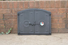48 x 38 cm cast iron fire door clay / bread oven door / pizza stove thermometer