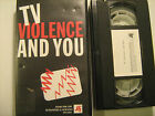 VHS Tape TV VIOLENCE AND YOU 1997 Films for the Humanities & Sciences [Y31c]