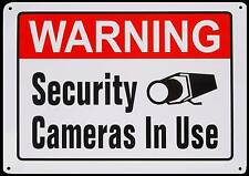LARGE METAL Home Security Cameras in use System Burglar Alarm Warning Yard Sign