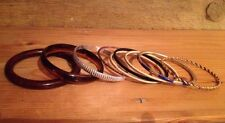 Job Lot Of Mixed Bangle/Bracelets/Kitsch/Retro Bangles/Metal/Plastic/Wood