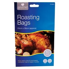 10 PACK Roasting Bags 25x38cm Browns Meat Cooking Use Oven Microwave Roast Bags