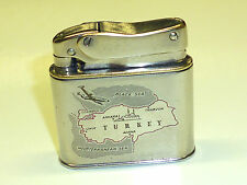 "MYLFLAM ""BOB"" POCKET LIGHTER W. TURKEY MILITARY AIRPLANE - 1953 - WWII -GERMANY"