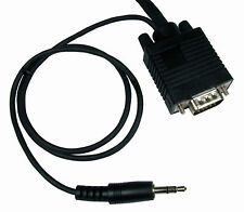 2m VGA Male PC SVGA Monitor Lead & built in 3.5mm Stereo Sound Audio Jack  Cable