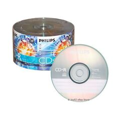 600 Pack Philips Brand Logo Blank CDR CD-R 52X Disc Media, 5*100 Wholesale Lot