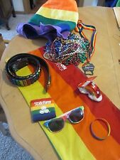 Gay Pride Gear - Belt - Beads - Hat - Sunglasses - Rainbow Ornament - Wristband
