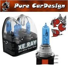 SATZ 15W 55W H15 blau weiß LAMPEN SUPER WEISS Halogen Glühbirnen Xenon-Look
