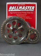 ROLLMASTER Ford Y-Block 292 312 BILLET Double Roller Timing IWIS Chain Set 9-key