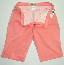 New NWT Womens 16 GAP JEANS STRETCH  Pink Cotton Spandex Casual Shorts