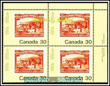 CANADA 1982 CANADIAN PHILATELIC YOUTH FV FACE $1.20 MNH TR STAMP CORNER BLOCK