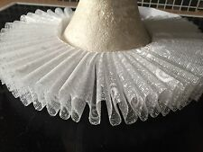 Shakespeare, Elizabethan, Fancy Dress, Tudor Ruff In White Lace