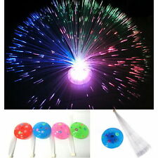 Chic Color Changing LED Fiber Optic Night Light Lamp Colorful Stand Home Decor