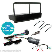 CD Radio Fascia Stereo Fitting Kit & Steering Stalk Adaptor for FORD Focus 98-04