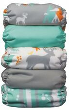 Cloth Diaper Set Reusable Newborn Baby 5 Diapers Adjustable Waterproof Nursery