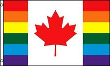 RAINBOW CANADIAN 3X5 FLAG #644 love gay rights country  unity pride new CANADA