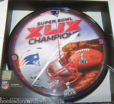 New England Patriots Round Chrome Wall Clock 14' Super Bowl 49 Champions