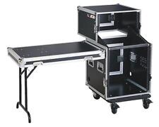 "AUDIO DYNAMICS 27U COMBO CASE W/ TABLE WILL ACCOMMODATE ANY 19"" UNIT MR-SL-12 B"