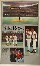 Cincinnati Reds Pete Rose Record Breaking Newspaper Poster