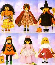 """Reduced!  BUTTERICK 5661 18"""" DOLL HALLOWEEN COSTUMES Pattern"""