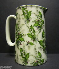 Heron Cross Pottery Lilly Of The Valley Chintz English 2 Pint Milk Jug