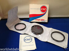 Rolev Magi-Glas Photographic 3 Filter Set 49mm Skylight/Polarizer/Close-up +2