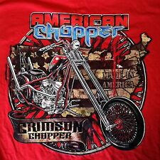 American Chopper Crimson Motorcycle Red Size Large New Nwot