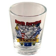 SOUTH CAROLINA STATE ELEMENTS MAP SHOT GLASS SHOTGLASS