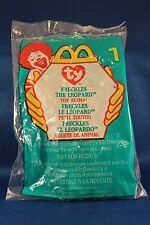 1999 McDonalds TY BENNIE BABIES FRECKLES THE LEOPARD #1 New In Package