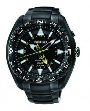 BRAND NEW Seiko Gents GMT Prospex Land Kinetic Watch SUN047P1 Black Ion Plating