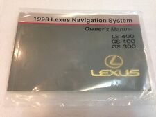 LEXUS 1998 LS400 GS300 GS400 OEM NAVIGATION OWNER MANUAL BOOK REFERENCE GUIDE