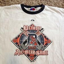 Rare Detroit Tigers 2005 All Star Game Ringer 2XL MLB Tee Shirt XXL Motor City