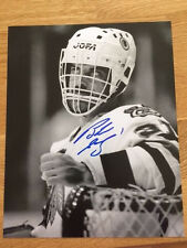 Chicago Blackhawks Bob Sauve signed 8x10 W/COA pose 2