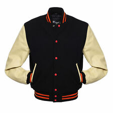 Best Varsity  Lettermen Wool  Jacket with Leather Sleeves XS TO 4XL