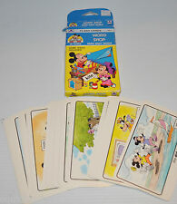 WALT DISNEY MICKEY MOUSE Flash Cards WORD SHOP  1989 Golden