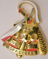 Navy Challenge Coin CPO Chiefs Mess Love Thy Officers Straight Razor Knuckles