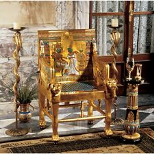 Throne Chair Egyptian Pharaoh King Tutankhamun Tut Museum Replica Reproduction