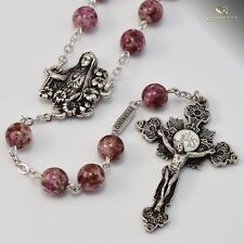 Catholic Our Lady  Fatima Ghirelli ROSARY 8mm Purple Bead Immaculate Conception