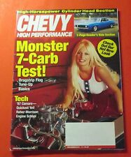 CHEVY HIGH PERFORMANCE  MAGAZINE DEC/2001...MONSTER 7-CARB TEST: BASICS-TUNE-UP