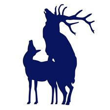 ELK MATING Funny Hunting Car Van Caravan Campervan Vinyl Decal Sticker Dark Blue