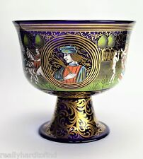 The Barovier Wedding Cup Salviati Murano Signed Enameled Glass