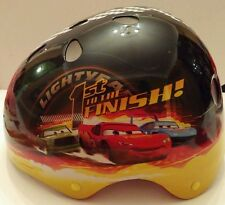 Disney Pixar Cars Hardshell Black Lightning McQueen Bicycle/Skating Helmut