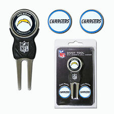 NFL San Diego Chargers Golf Divot Tool and 3 Ball Markers Enamel Team Logo