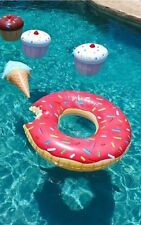 1.2m Pink Giant Bite Donut Inflatable Float Pool Party Summer Holidays