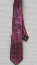 BANANA REPUBLIC Men's Raspberry Pink Patterned Silk Tie