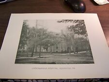 ANTIQUE - LACKAWANNA HOSPITAL -  SCRANTON PA 13 BY 10 IN - 1894 PRINT