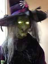 Gemmy Animated Life-size Cauldron Witch Prop RARE