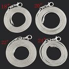 """Wholesale Lots Silver Plated 2mm Snake Chain Necklace Jewelry 18"""" 20"""" 22"""" 24"""""""