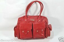 Hurley NATALIE Red Pockets Zip Closure Handbag Women's Purse