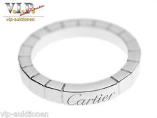 CARTIER LA BAGUE LANIERES RING TRAURING EHERING WEDDING BAND 18K./750 WHITE GOLD