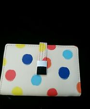 Wilson Leather Woman's Polka Dot Wallet NWT