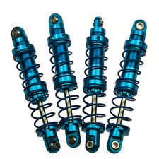 RC 80mm Adjustable Piggyback Shocks for AXIAL SCX10 1/10 D90 Crawlers Blue 4pcs